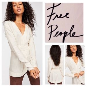 Free People Back In The Spotlight Belted Top. NWT.